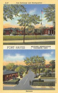 FORT HAYES Columbus, Ohio Military Reservation c1940s Vintage Postcard