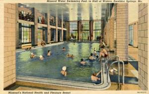 MO - Excelsior Springs, Missouri's National Health Resort, Mineral Water Pool...