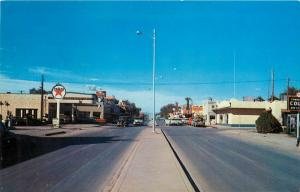 Highway 54 and 70 Alamogordo New Mexico Texaco Gas Station Old Cars Postcard