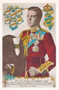 King Edward VIII Jacket New Zealand Tampex 1986 Exhibition Postcard
