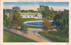 South Carolina Columbia Partial View Of Municipal Waterworks