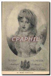 Old Postcard Musee Carnavalet Marie Louise