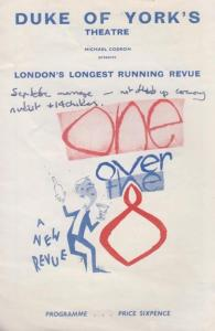 Peter Cook of Derek & Clive One Over The Eight Comedy London Old Theatre Prog...
