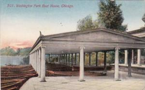 Illinois Chicago Boat House Washington Park