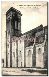 Postcard Old Vezelay Madeleine Church Tower Prinicipal