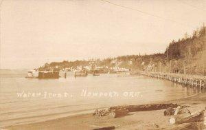 LPS90 Newport Oregon Water Front View Postcard RPPC