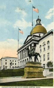 MA - Boston, Hooker Statue and State House