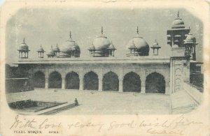 Postcard Asia India Agra Pearl mosque