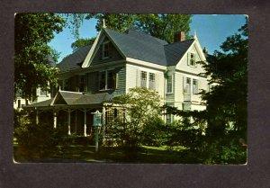 MA Victorian House Florence  Keenan Falmouth Massachusetts Postcard
