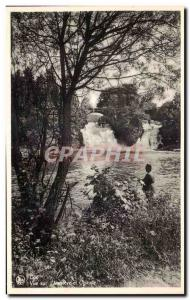 Old Postcard Belgium Coo View the Ambleve and waterfall