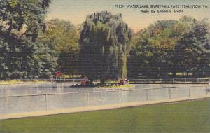 Fresh Water Lake, Gypsy Hill Park, Staunton,   Virginia,  30-40s