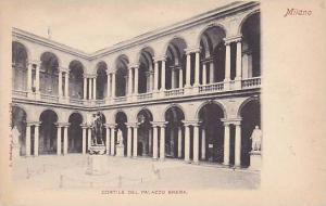Cortile Del Palazzo Brera, Milano (Lombardy), Italy, 1900-1910s