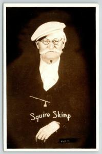 Pine Ridge AR Lum & Abner Con-Man Squire Skimp (Norris Goff)~Throat*~RPPC 1940s