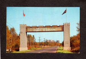 ON Fort Ft William Thunder Bay Canada Carte Postale Ontario Postcard