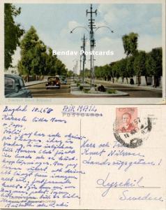 iraq, BAGHDAD BAGDAD, Saadoun Street, Cars (1957) Stamp