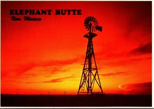 New Mexico Elephant Windmill At Sunset
