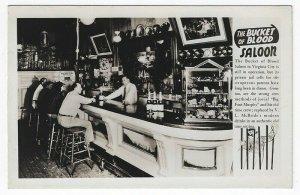 RPPC, Virginia City, Virginia, Early Interior View of The Bucket of Blood Saloon