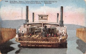 Ferry Boat Solano Point Costa, California, USA Unused