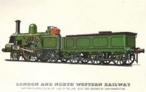London & North Western Lady Of The Lake Train Postcard