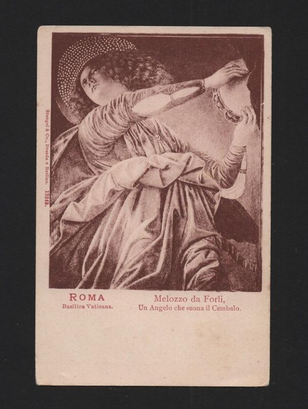 ITALY ROMA pcar 1900 s LOVELY ANGEL MUSIC MUSICIAN ANGELS RELIGION CHRISTIAN  Z1