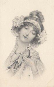 M.M.VIENNE : Woman in Art Nouveau Headdress Portrait #2 , 1901-07