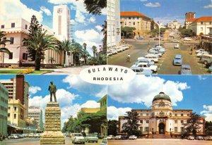 Vintage 1981 Africa Postcard, Bulawayo, Zimbabwe Rhodesia, Classic Cars GS7