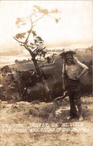 Arkansas AR Postcard VAN BUREN Bob Burns GRANPA SNAZZY RPPC Mt Vista Hillbilly