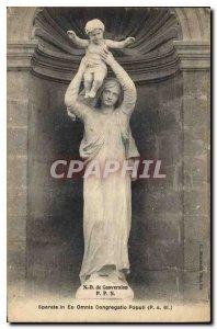 Postcard Old N D conversion P P N sperate in Eo Omnis Congregatio Populi