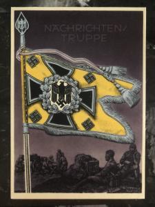 Mint Germany Patriotic Postcard Nachrichten Truppe Wehrmacht