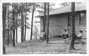 1930s Ruttgers Pine Beach Lodge Cabins Brainerd Gull Lake Minnesota RPPC 1563