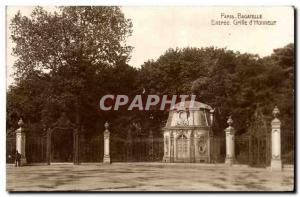 Paris Old Postcard Bagatelle Entree grille & # 39honneur