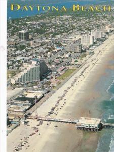 Florida Daytona Beach Aerial View Looking North Showing Pier
