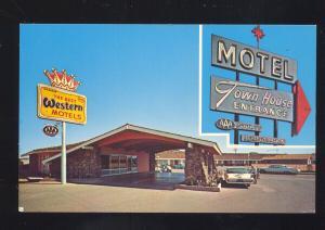 WINSLOW ARIZONA ROUTE 66 MOTEL TOWN HOUSE 1960's CARS VINTAGE POSTCARD