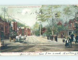 Pre-1907 STREET SCENE Hot Springs Arkansas AR W2414