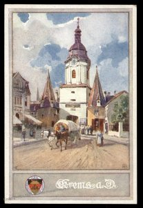 Austria Krems aD WWI German Unification DSV Patriotic Postcard UNUSED 98830