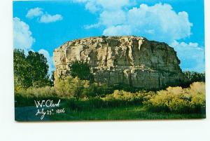 Postcard Montana Billings Pompeys Pillar Clarks Name Engra Free Shipping # 2630A