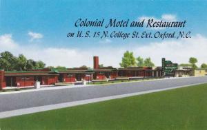 Colonial Motel and Restaurant - Oxford NC, North Carolina