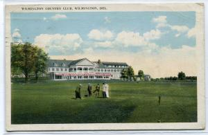 Country Club Wilmington Delaware 1923 postcard
