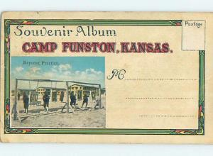 c1910 Ad ARMY SOLDIERS AT BAYONET PRACTICE Fort Funston - Manhattan KS c3947