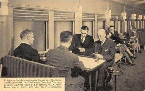 Union Pacific Railroad Challenger Lounge Car Train Interior Postcard AA1475
