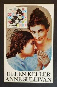 Mint Asheboro North Carolina Helen Keller Anne Sullivan Stamp Picture Postcard