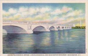 Washington DC Arlington Memorial Bridge Lincoln Memorial And Washington And W...