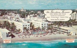 MIAMI BEACH , Florida , 50-60s ; The Shoreham - Norman, Twin Hotels & Motels