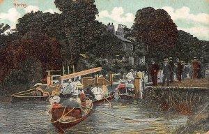 Goring River Boats Cottage Postcard