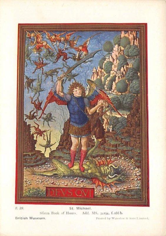 St Michael non postcard backing Art Unused