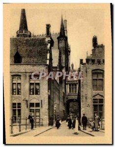 Postcard Modern Bruges street Donkey Blind