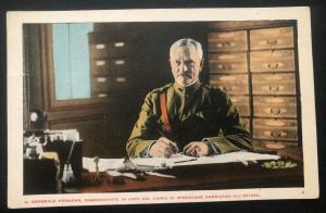 Mint Italy Color Picture Postcard General Pershing Leader Of Expeditionary Force