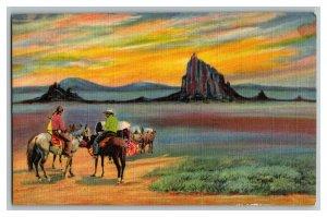 Shiprock New Mexico Vintage Standard View Postcard