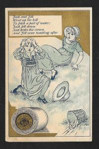 VICTORIAN TRADE CARD Coat's Thread Jack & Jill