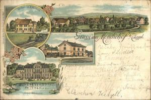 Gruss Aus Moncheho b/ Cassel Germany c1900 Postcard